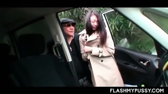 Big Titted Asian Flashing Pussy Outdoor Picked Up For Sex