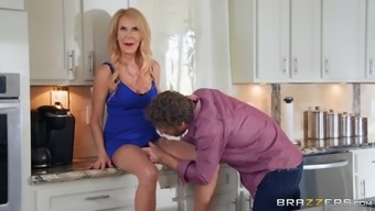 Mature Blonde Erica Lauren Bent Over And Pounded In The Kitchen