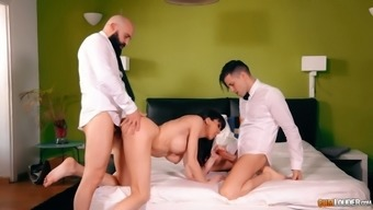 Some Hard Double Cock Penetration Is Never Too Late For Lusty Sofia Star
