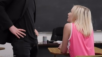 Straight A Student Natalia Queen Seduces Her Handsome Young Teacher