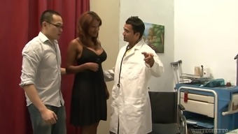 Kymora Lee Gets Fucked By A Lewd Doctor In The Presence Of Her Husband