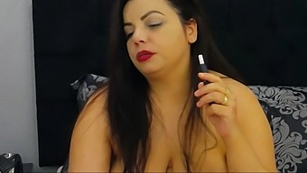 Busty Syrian Vaping While Topless On Cam